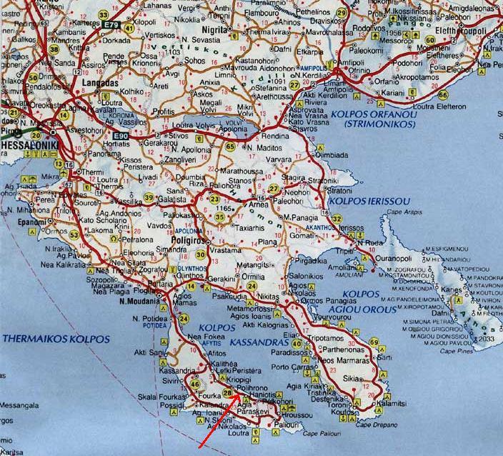 Tasos Resort Apartments In Hanioti Halkidiki Map And Directions